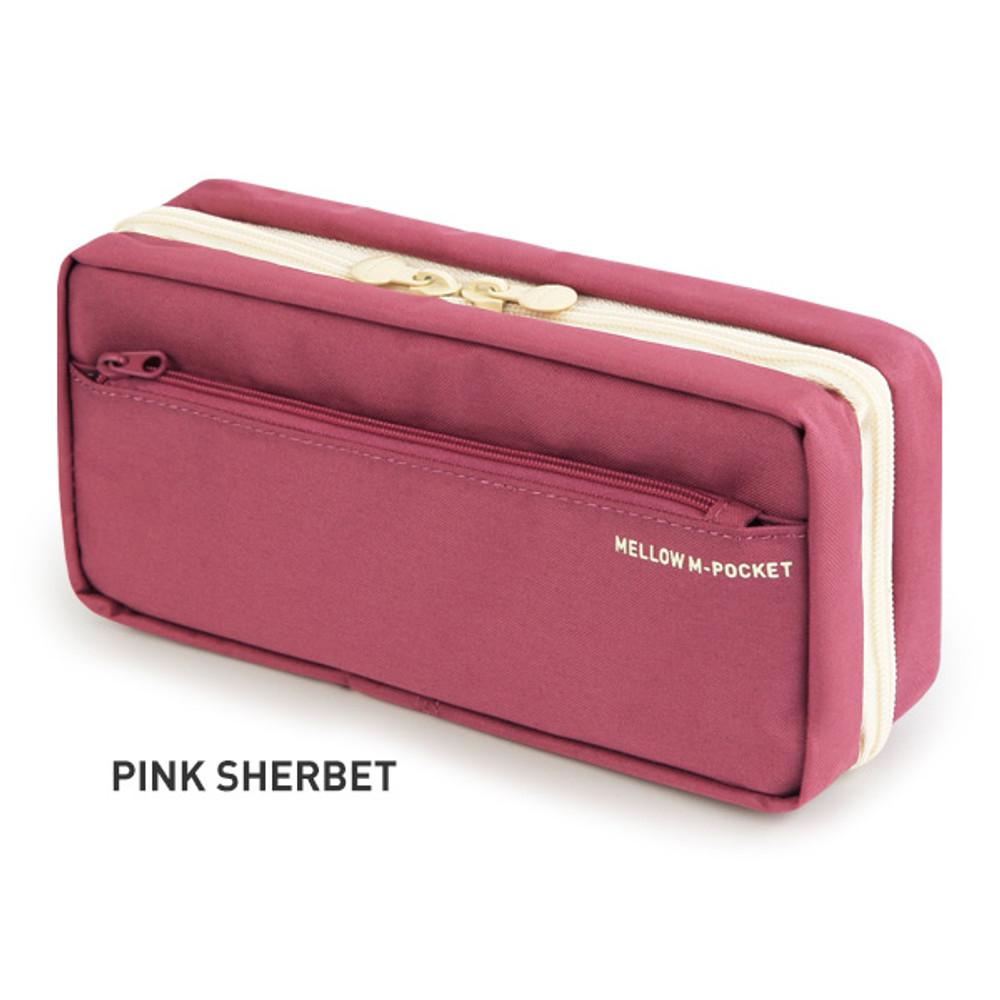 Pink Sherbet - Monopoly Mellow M-pocket zipper pencil case pouch