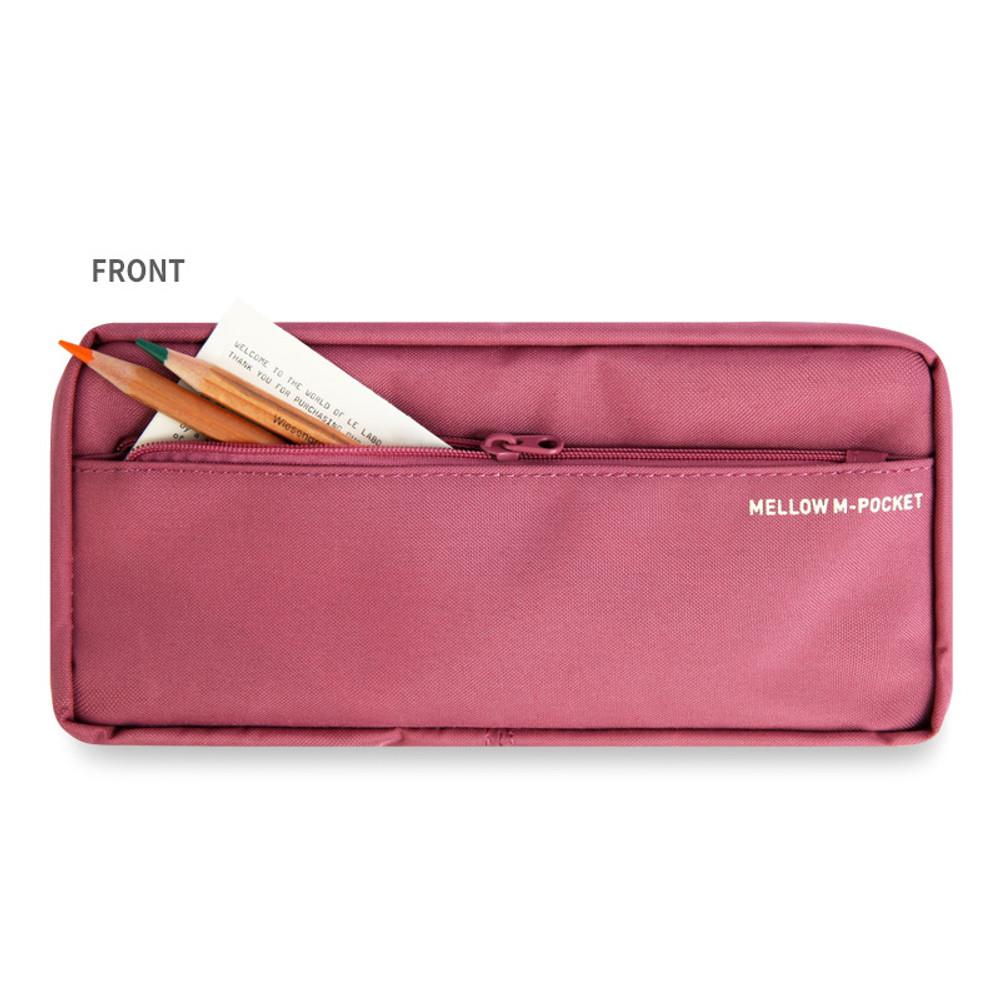 Front zip pocket - Monopoly Mellow M-pocket zipper pencil case pouch