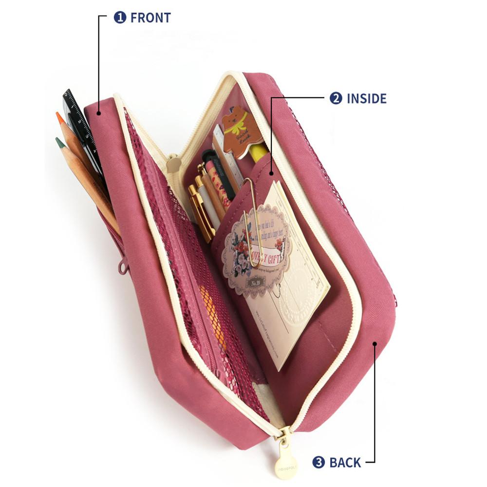 Main compartment - Monopoly Mellow M-pocket zipper pencil case pouch