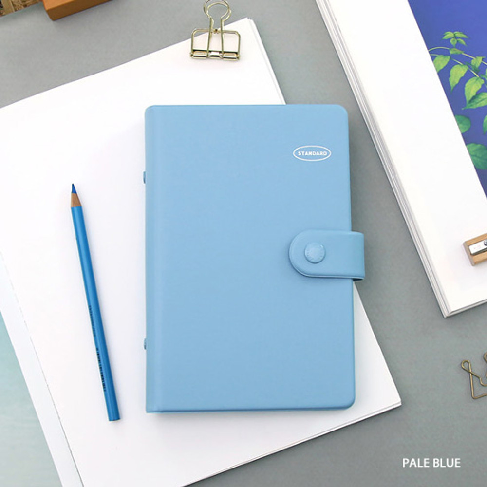 Pale blue - Second Mansion Standard A6 6-ring dateless weekly diary