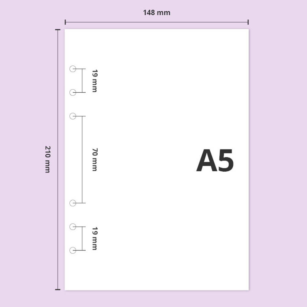A5 size - Second Mansion Standard A5 6-ring dateless weekly diary