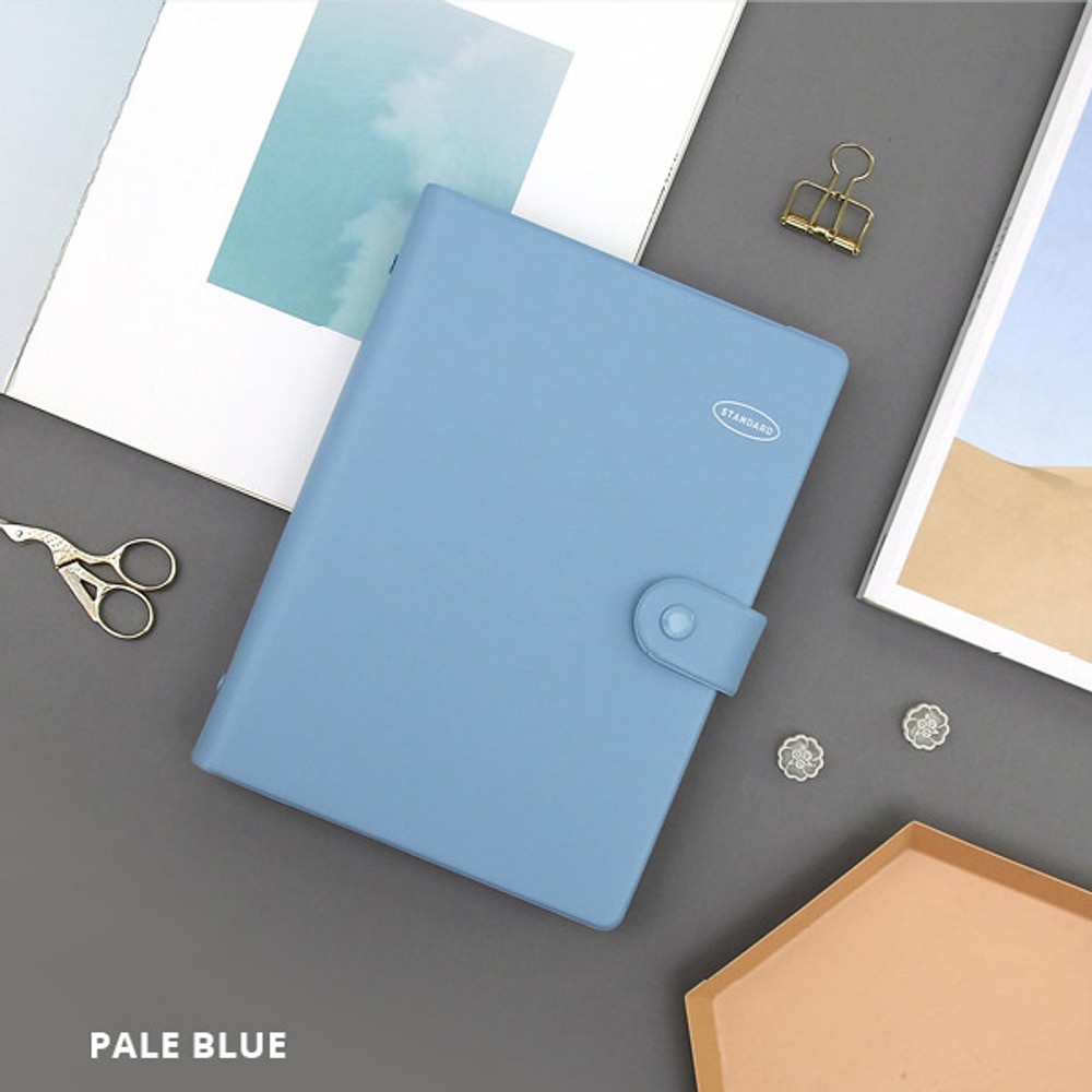 Pale blue - Second Mansion Standard A5 6-ring dateless weekly diary