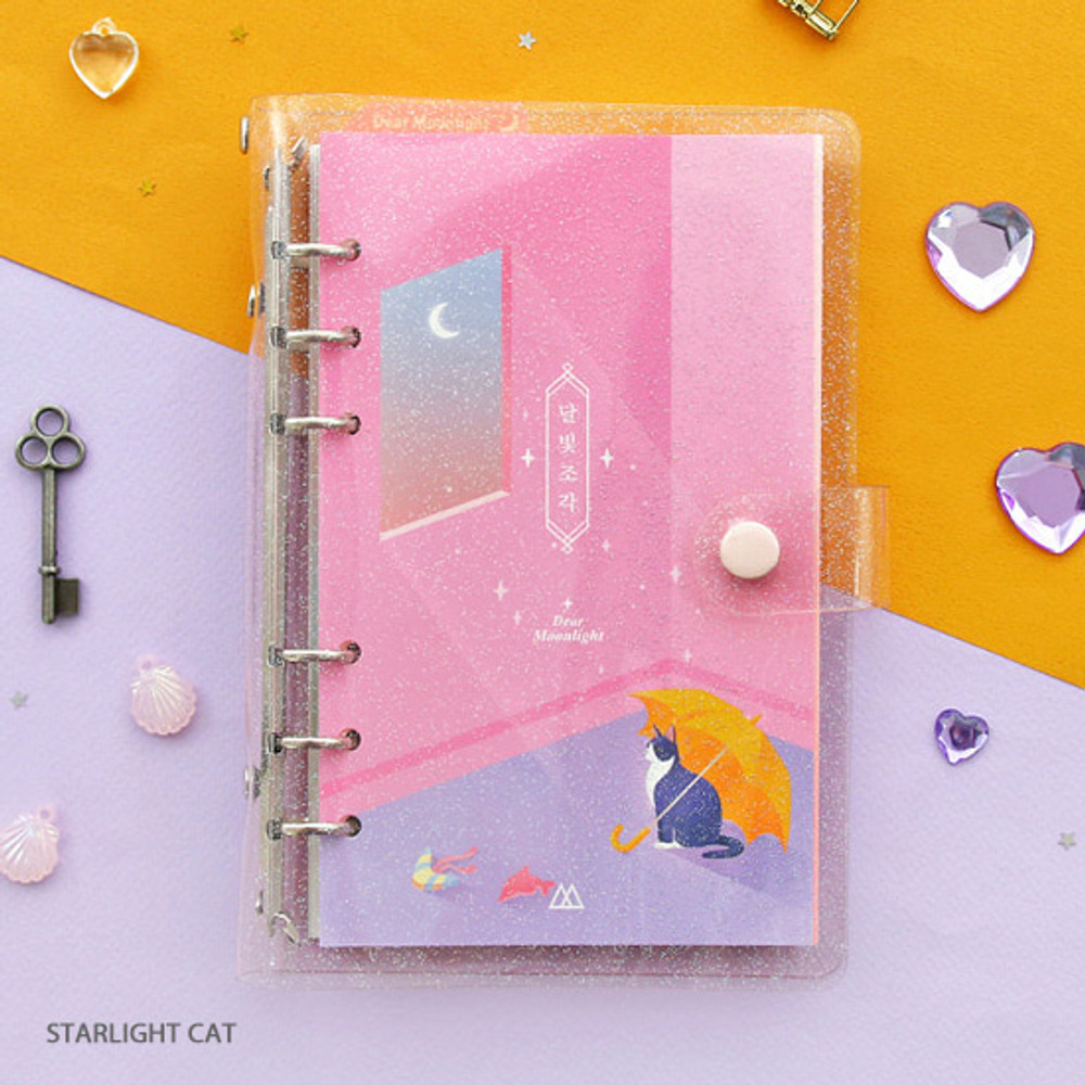 Starlight cat - Twinkle moonlight A6 6 ring dateless weekly diary planner