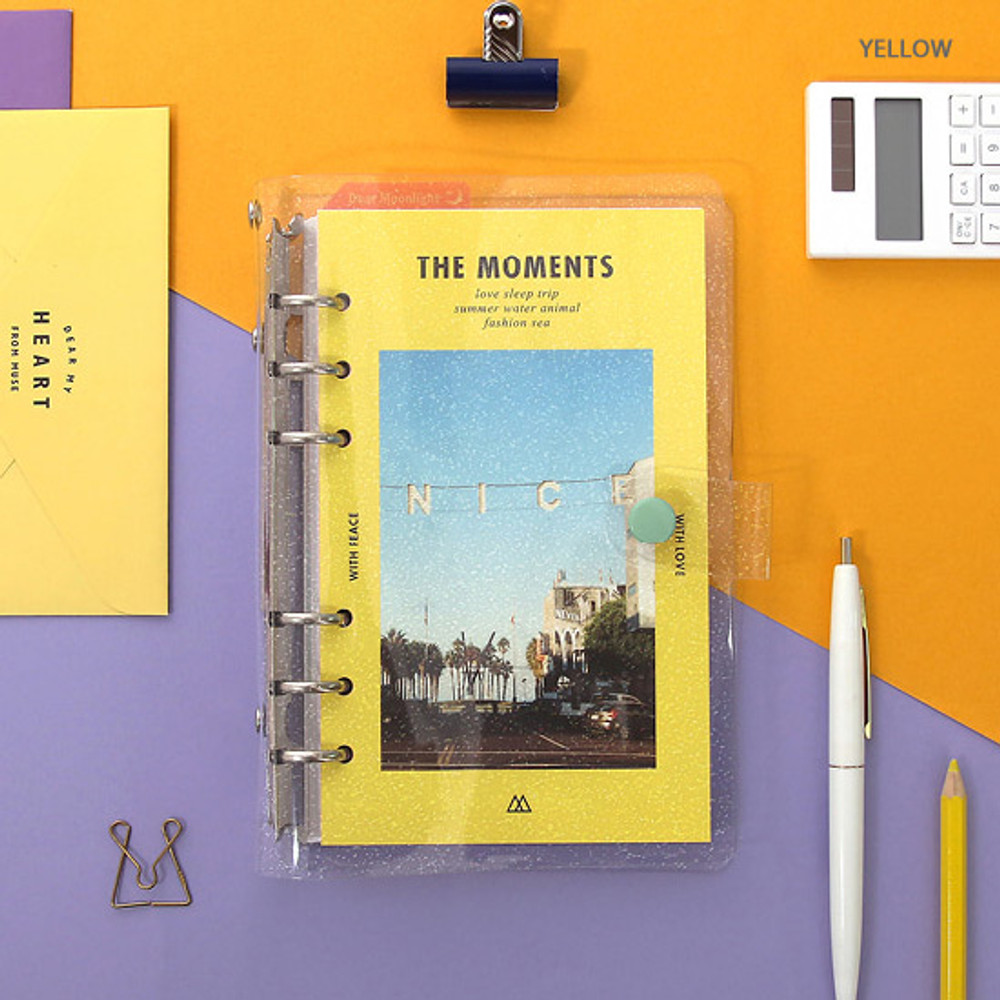 Yellow - Second Mansion Moment A6 6-ring dateless weekly diary planner