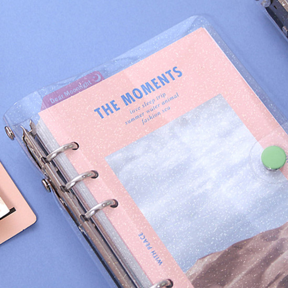 Twinkle PVC cover - Second Mansion Moment A6 6-ring dateless weekly diary planner