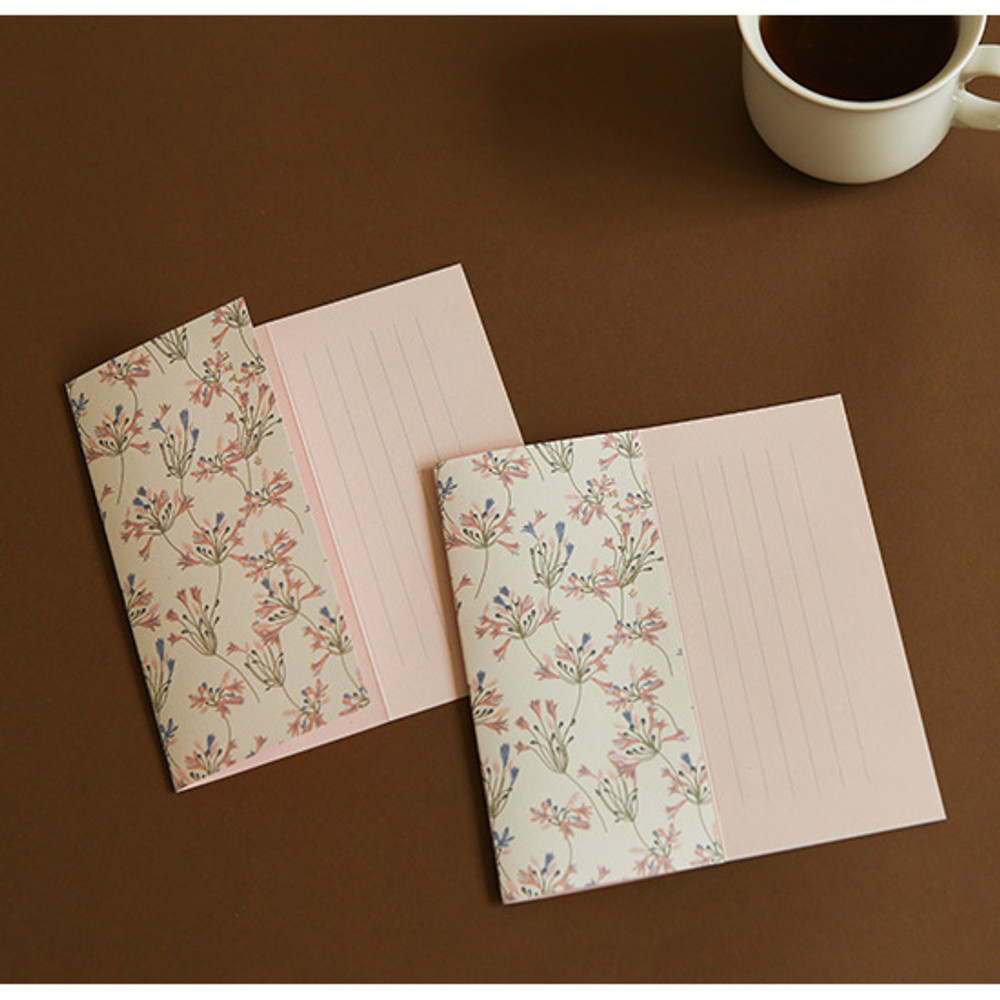 Usage example - Dailylike Mind pattern letter with envelope set-African Lily