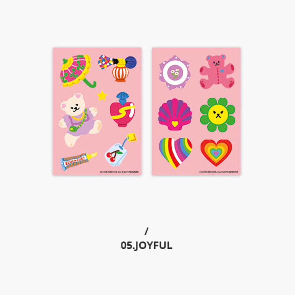 Joyful - Second Mansion Retro mood deco sticker sheets set