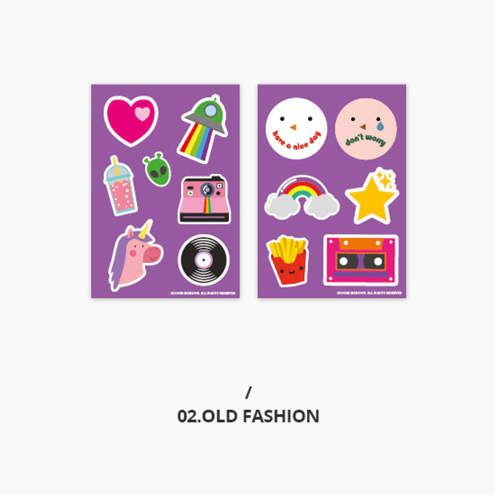 Old Fashion - Second Mansion Retro mood deco sticker sheets set