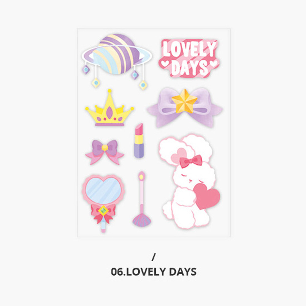 Lovely days - Second Mansion Creamy friends deco point sticker