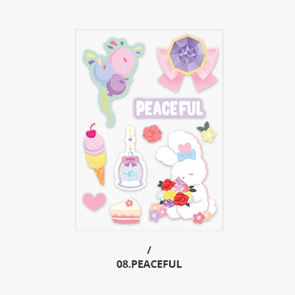 Peaceful - Second Mansion Creamy friends deco point sticker