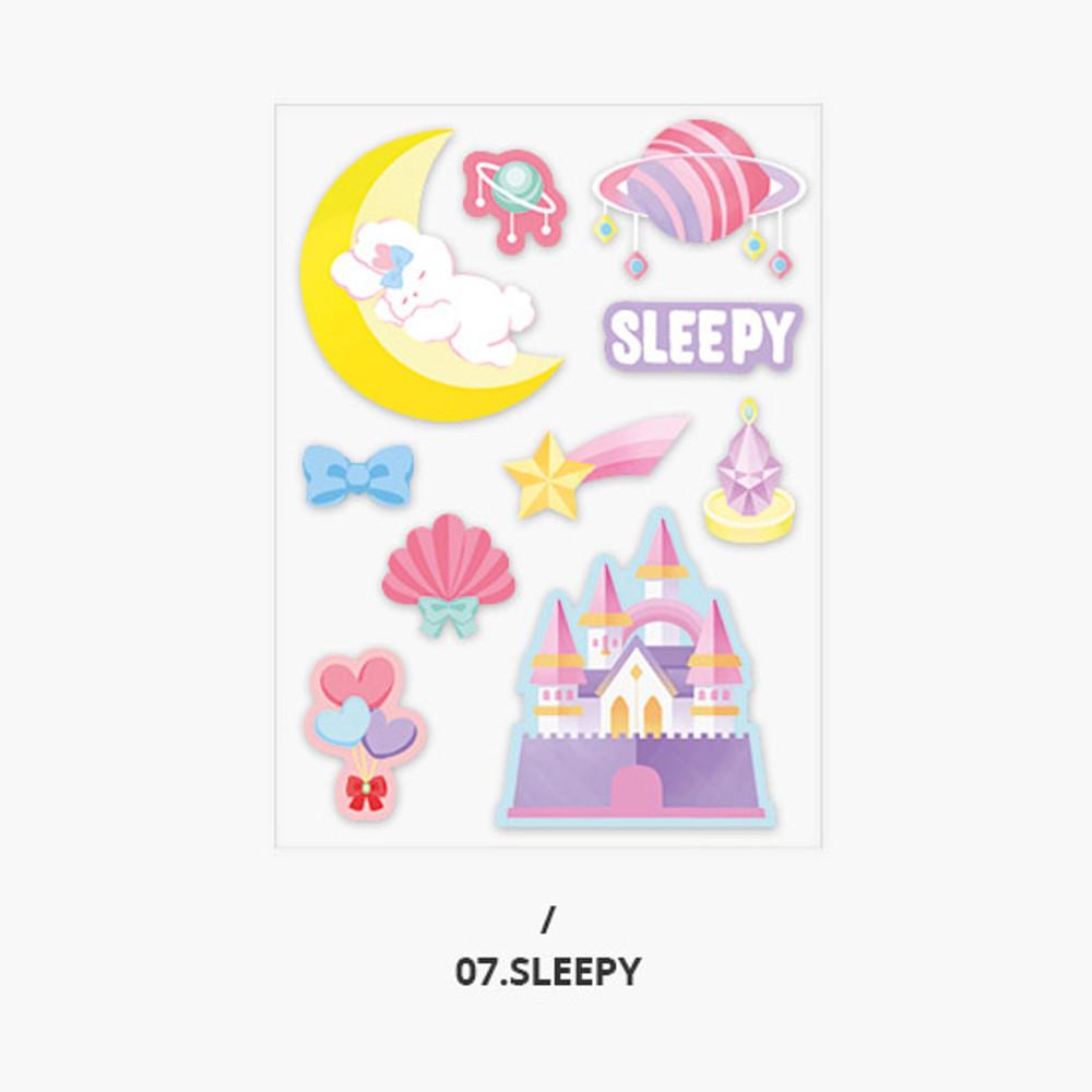 Sleepy - Second Mansion Creamy friends deco point sticker