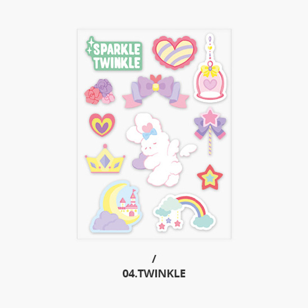 Twinkle - Second Mansion Creamy friends deco point sticker