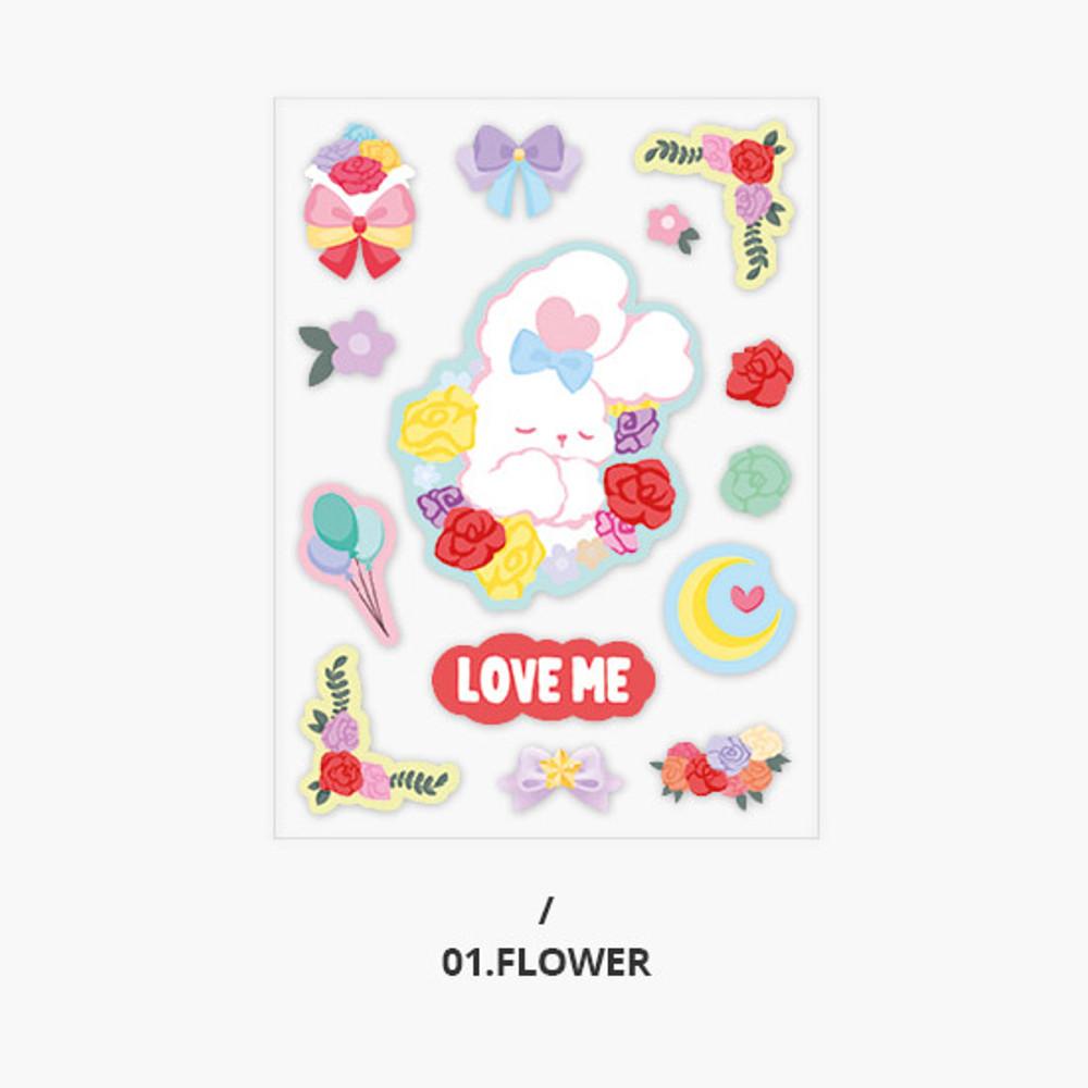 Flower - Second Mansion Creamy friends deco point sticker