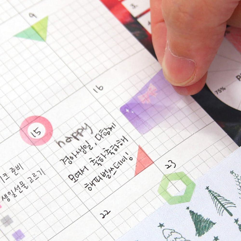 Usage example - Second Mansion Schedule check deco planner sticker set