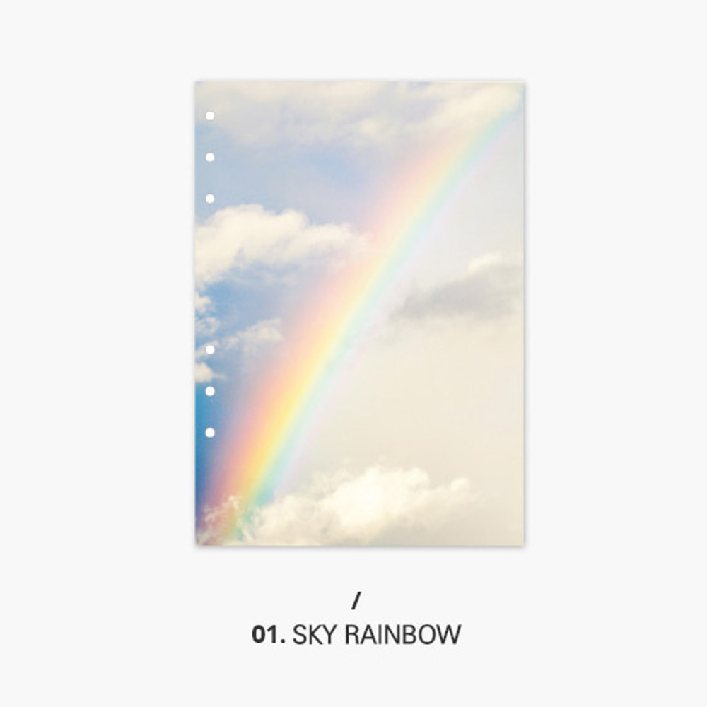 Sky rainbow - Second Mansion Moment 6-ring A5 size planner notebook refill