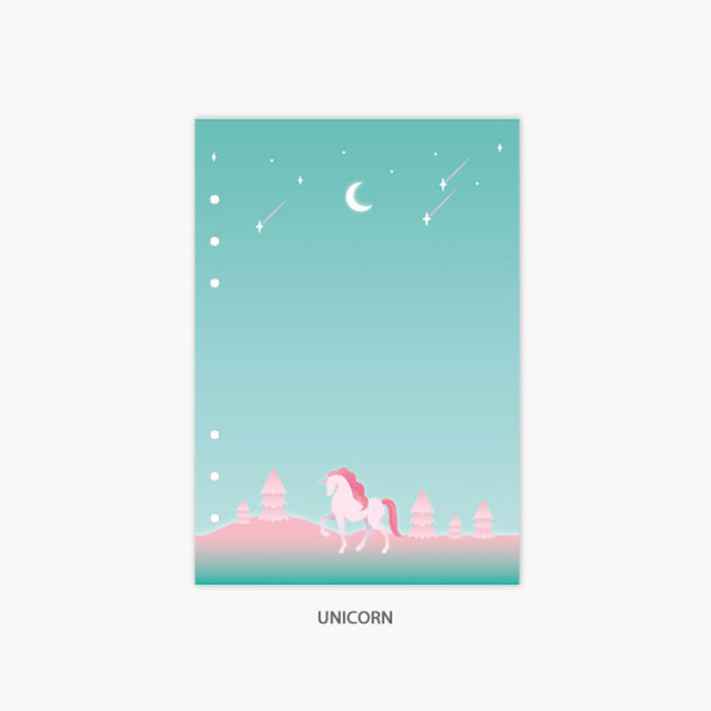 Unicorn - Second Mansion Moonlight 6-ring A5 planner notebook refill
