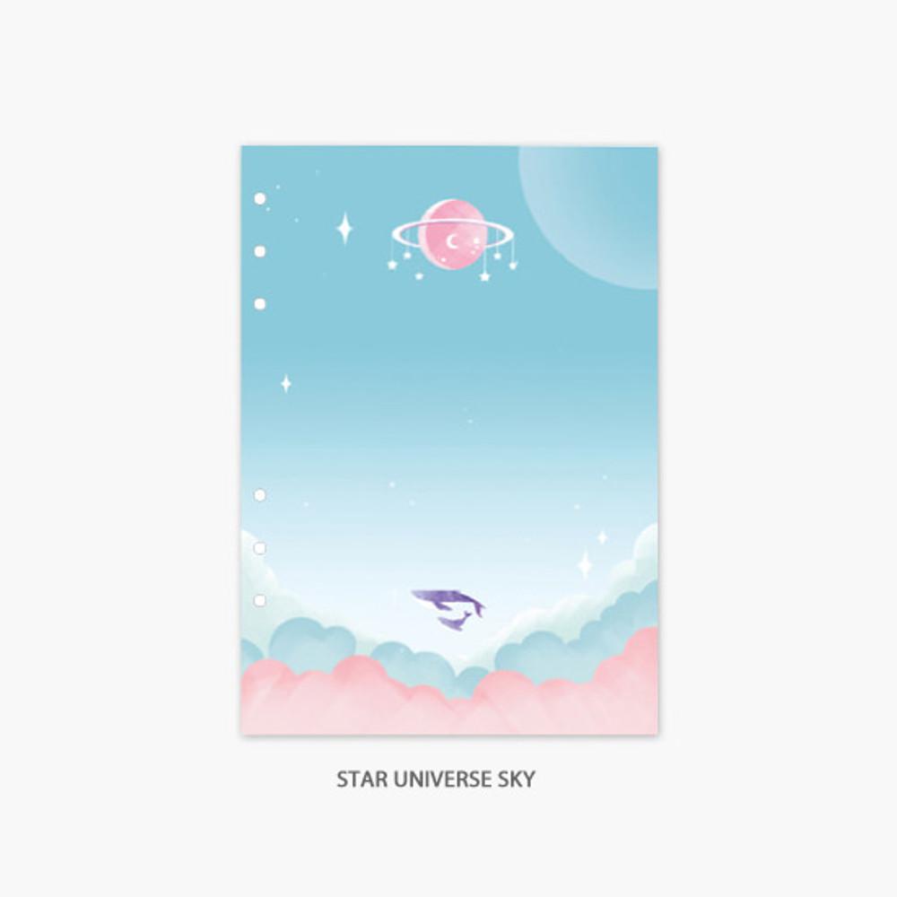 Star universe sky - Second Mansion Moonlight 6-ring A5 planner notebook refill
