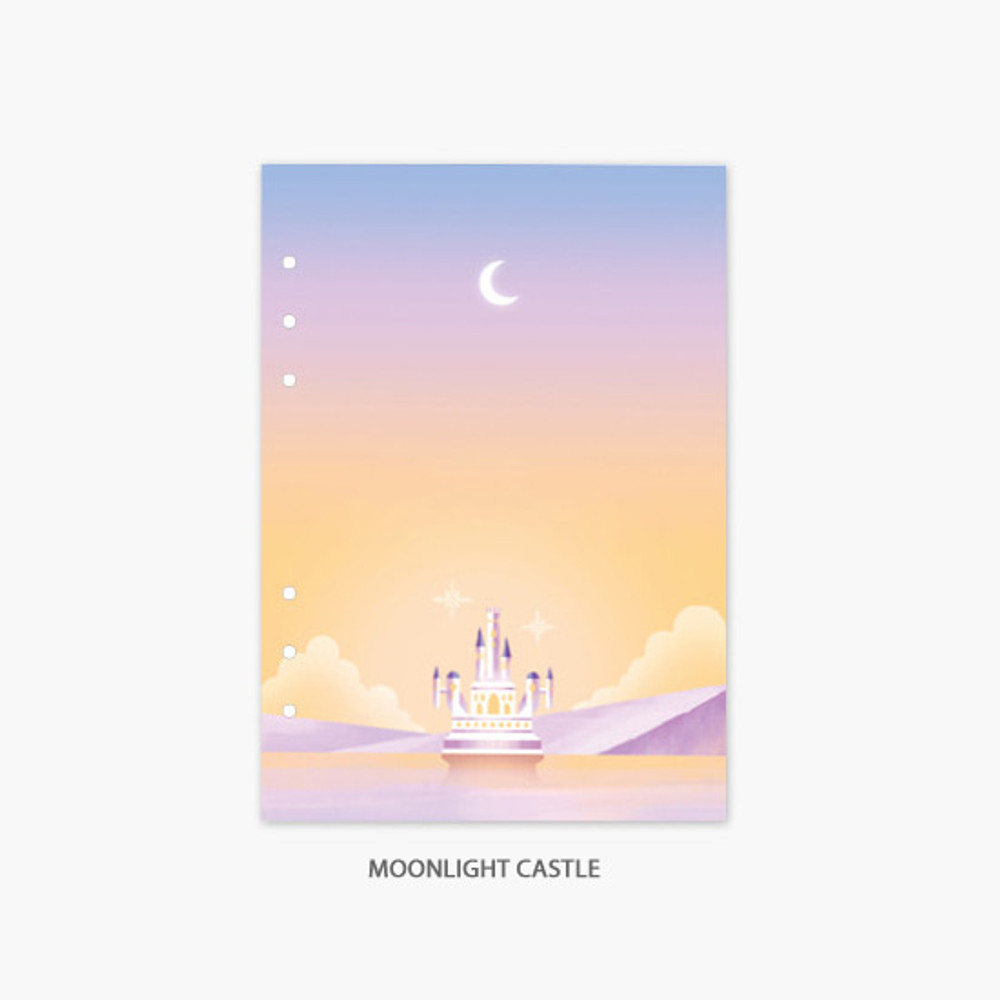 Moonlight castle - Second Mansion Moonlight 6-ring A5 planner notebook refill