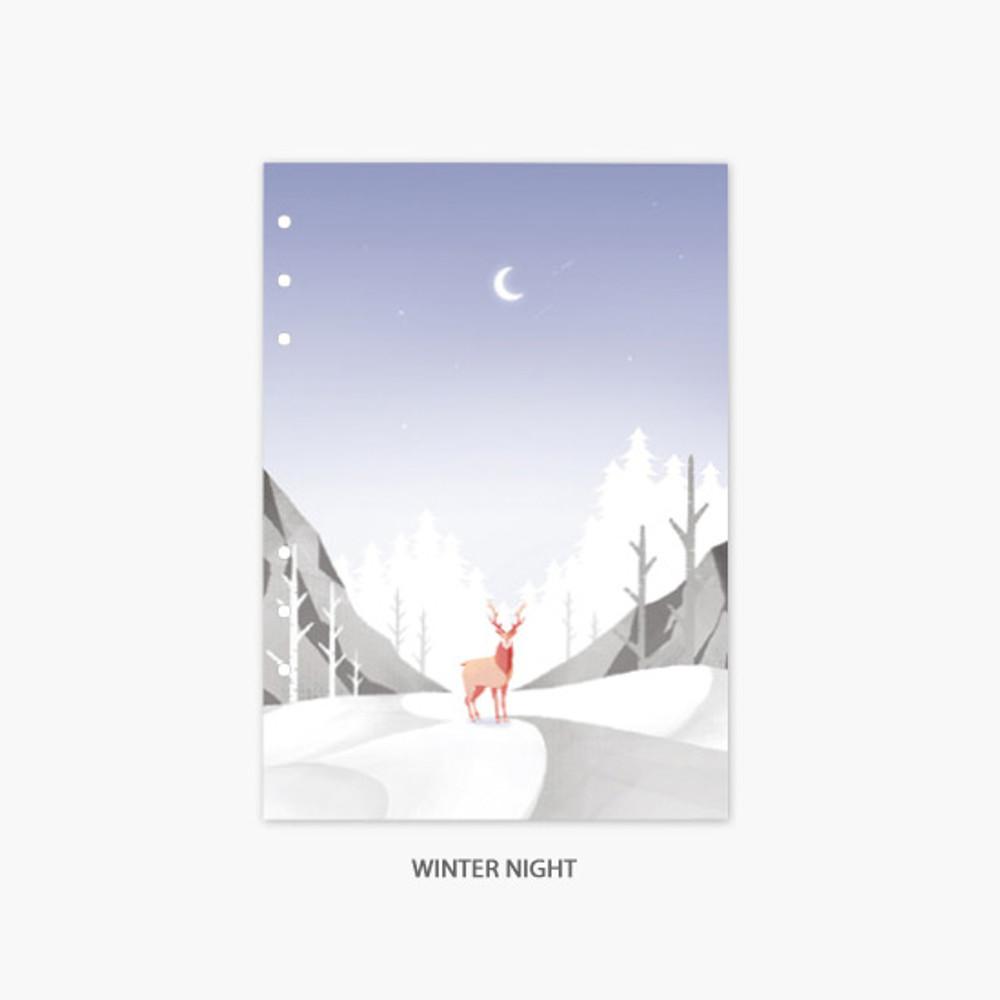 winter night - Second Mansion Moonlight 6-ring A5 planner notebook refill