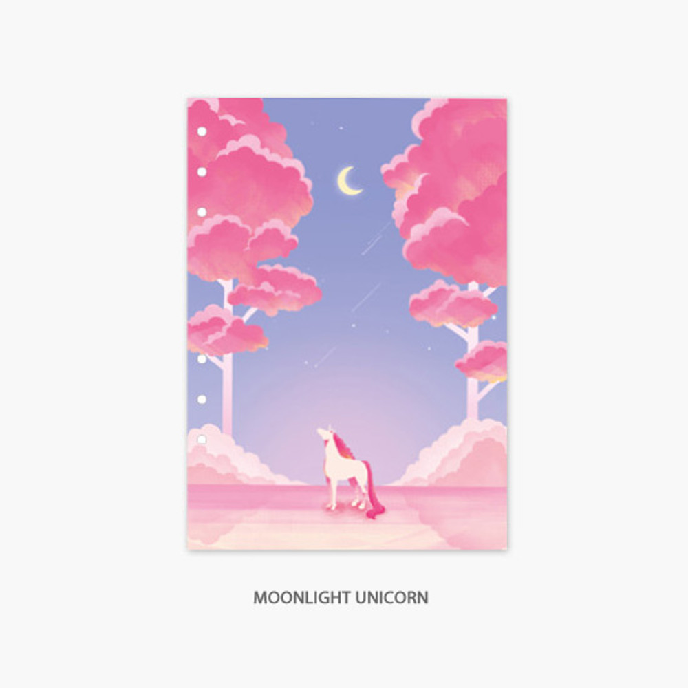 Moonlight Unicorn - Second Mansion Moonlight 6-ring A5 planner notebook refill