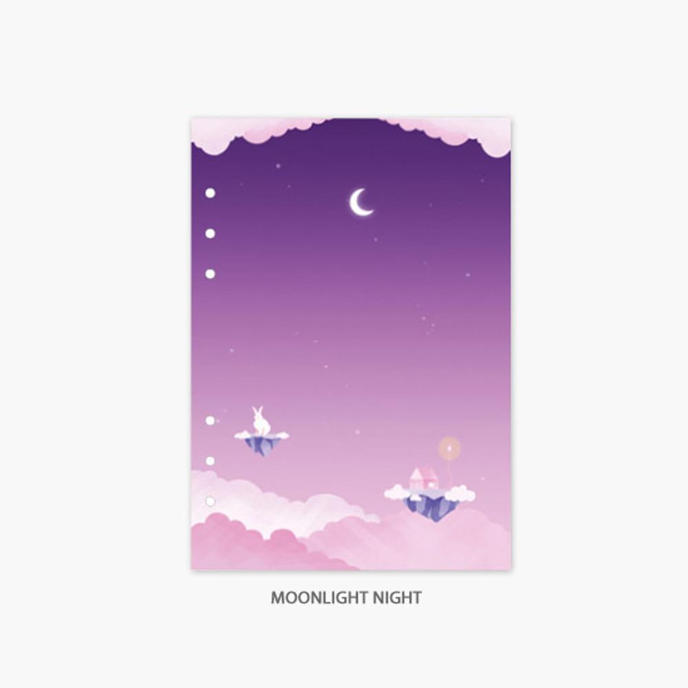 Moonlight night - Second Mansion Moonlight 6-ring A5 planner notebook refill