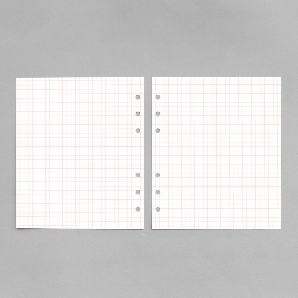Pink - 2NUL Cherry pick 6-ring planner grid note refill