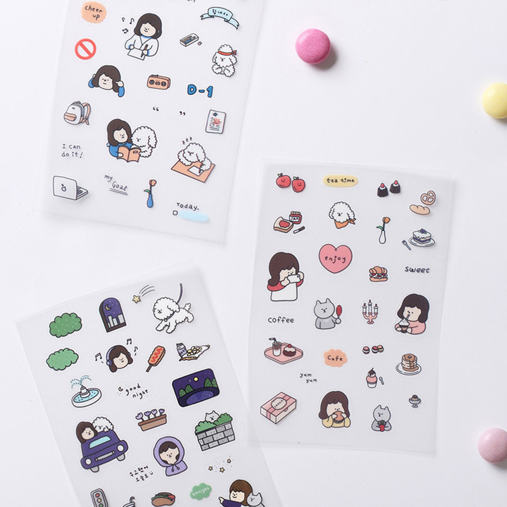 Usage example - Dash And Dot Girl's day clear deco sticker