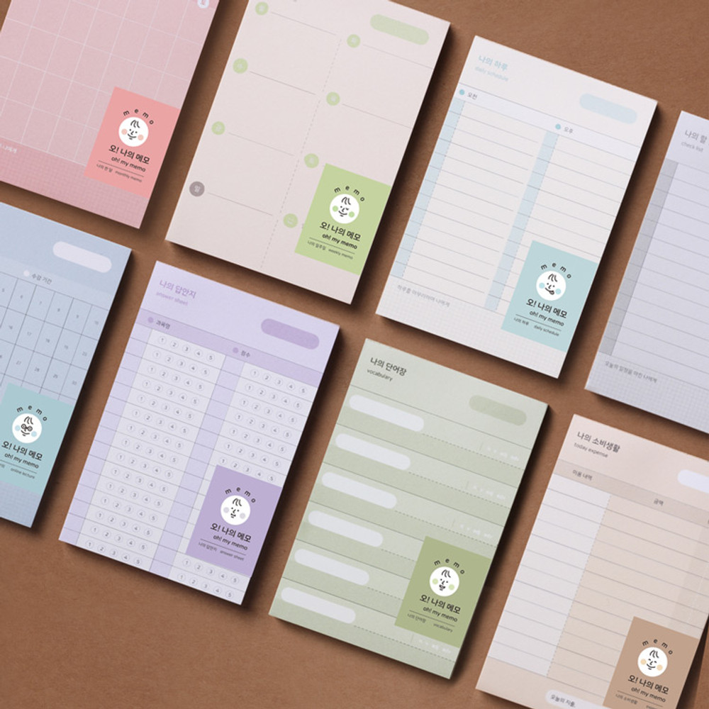 Dash And Dot Oh my memo 70 sheets planning checklist pads