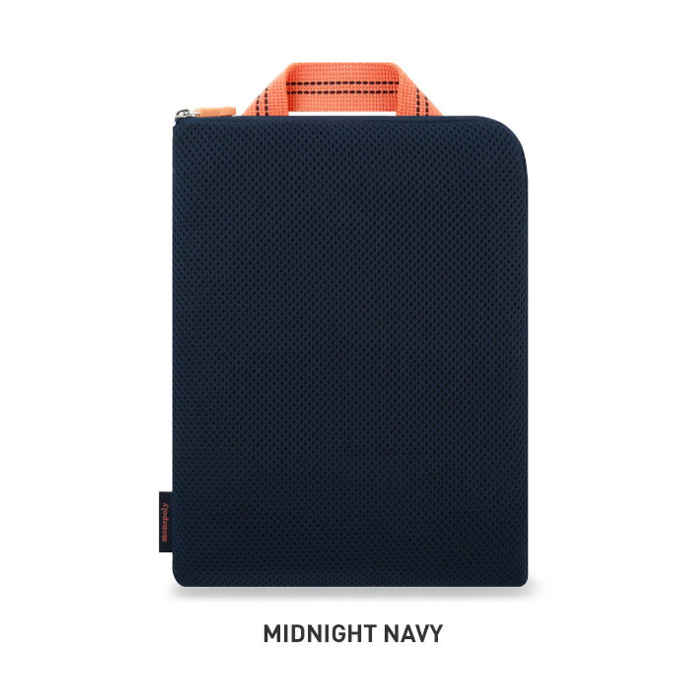 Midnight navy - Monopoly Air mesh extra large iPad zipper tote pouch bag