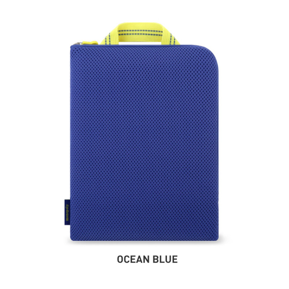 Ocean Blue - Monopoly Air mesh extra large iPad zipper tote pouch bag