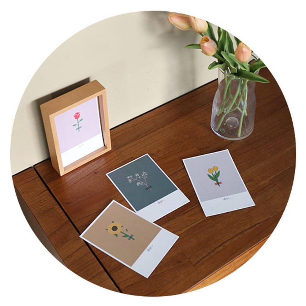 Flower - ROMANE Donat brunch brother postcard 4 sheets set