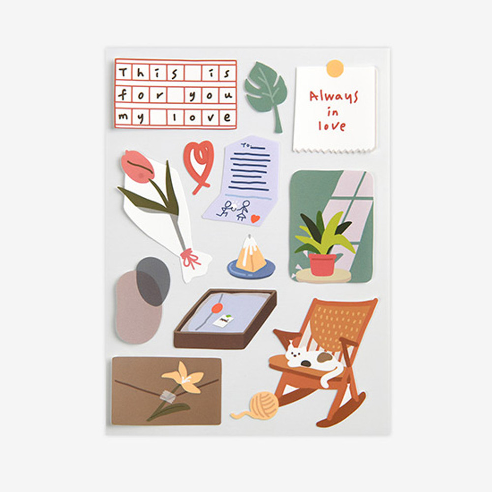 Dailylike Warm removable paper deco sticker