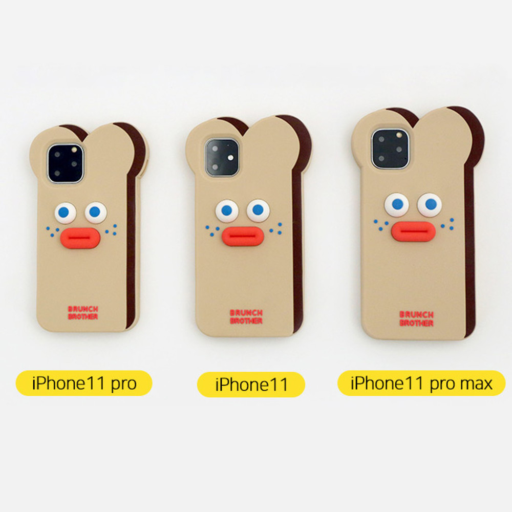 ROMANE Brunch brother toast iPhone 11 pro max silicone case