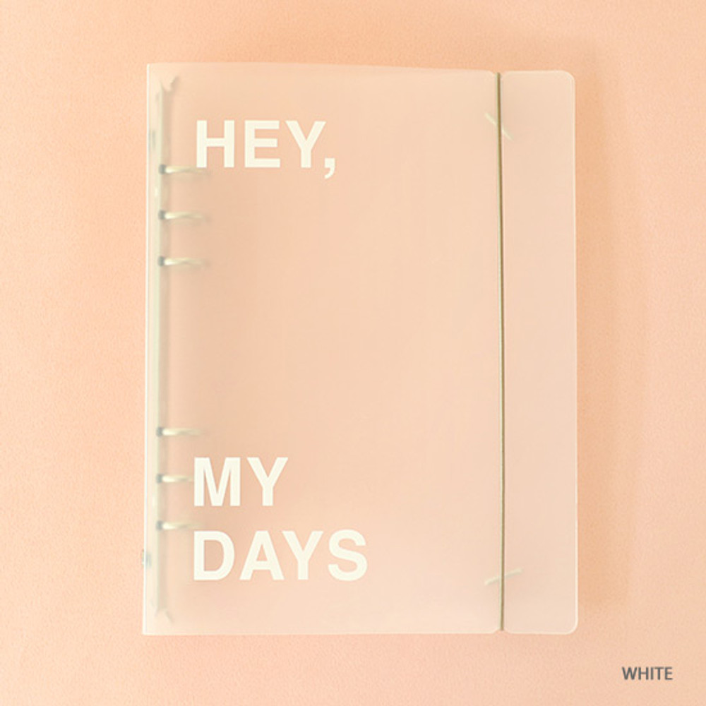 White - PAPERIAN Hey my days A5 size 6 ring translucent binder