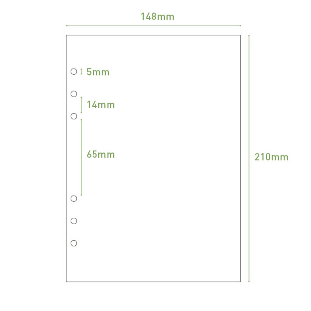 Size - PAPERIAN Make a memo 6-ring A5 size planner notebook refill