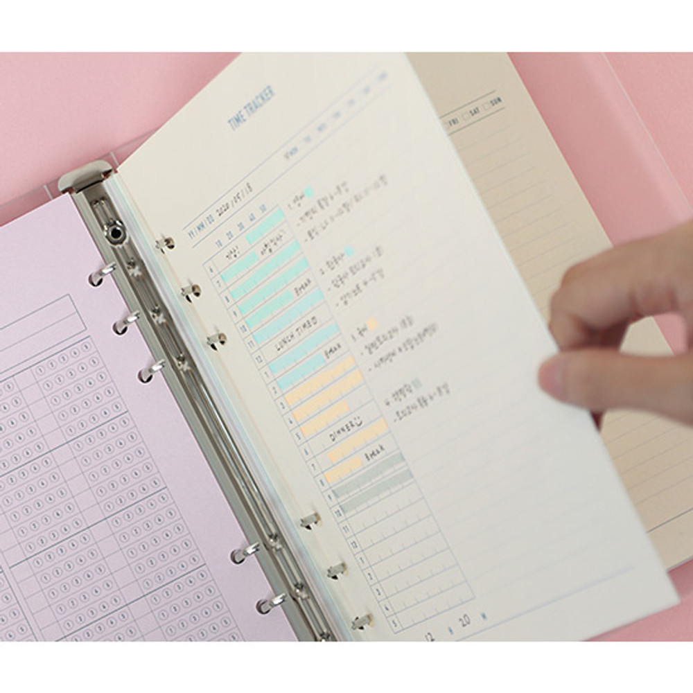 120gsm paper - PAPERIAN Make a memo 6-ring A5 size planner notebook refill