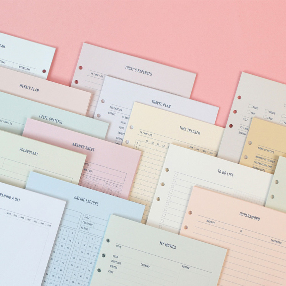 PAPERIAN Make a memo 6-ring A5 size planner notebook refill