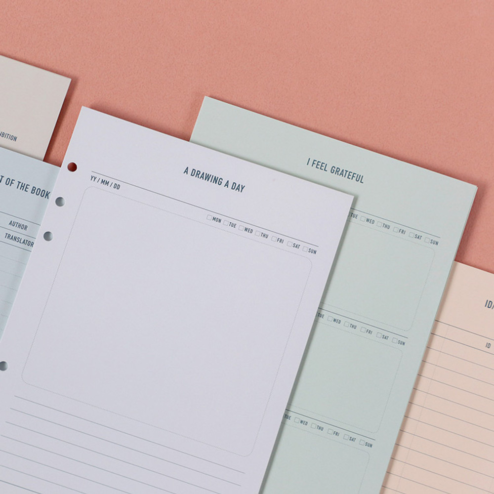 Usage example - PAPERIAN Make a memo 6-ring A5 size planner notebook refill