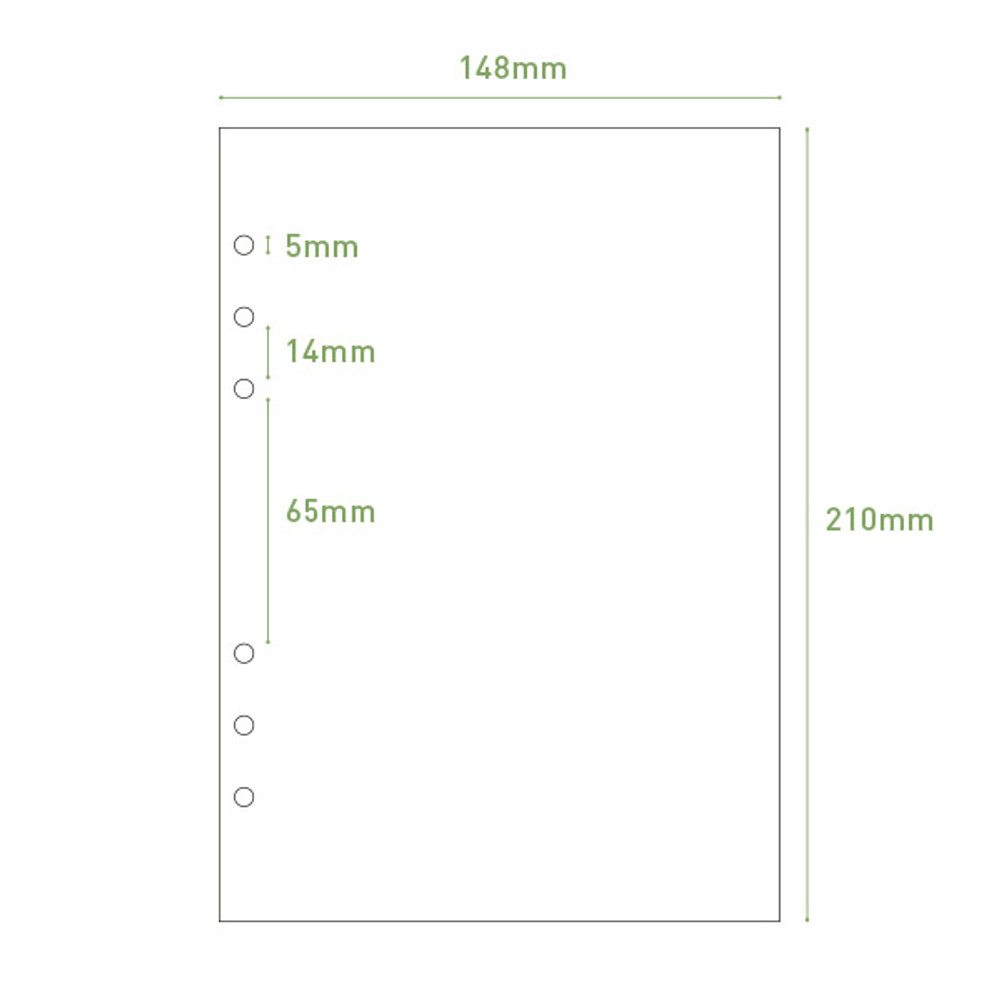 Size - PAPERIAN Lifepad 6-ring A5 size notebook refill