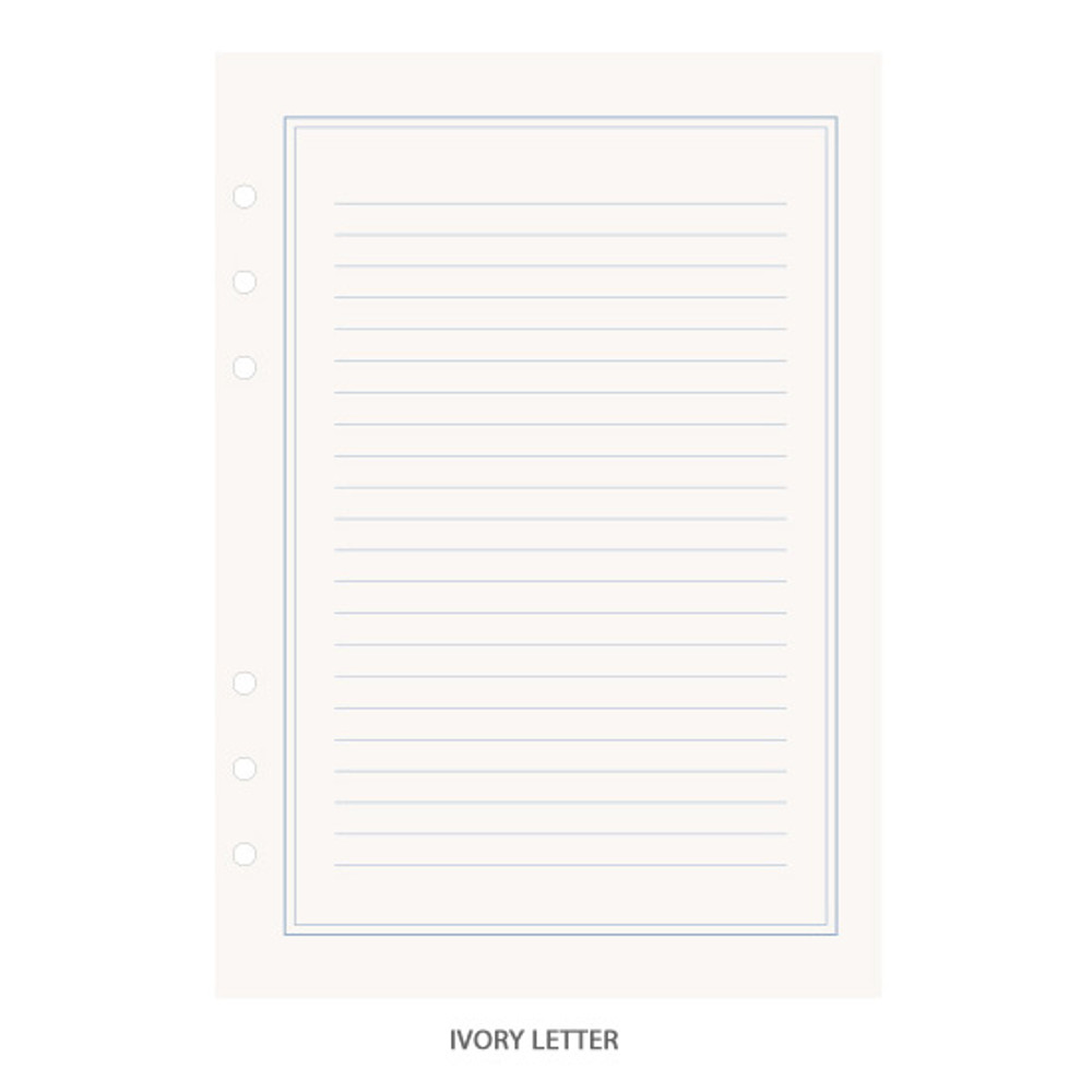 Ivory letter - PAPERIAN Lifepad 6-ring A5 size notebook refillript Paper