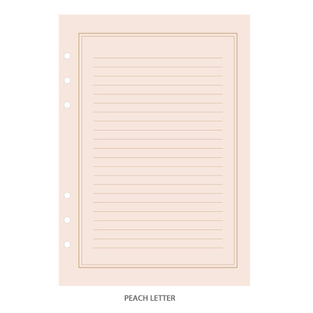 Peach letter - PAPERIAN Lifepad 6-ring A5 size notebook refillript Paper