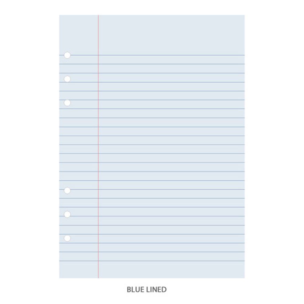 Blue lind - PAPERIAN Lifepad 6-ring A5 size notebook refill