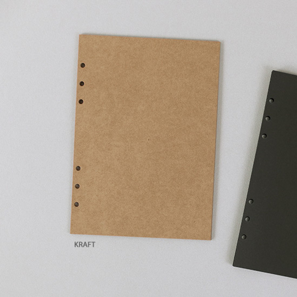 Kraft - PAPERIAN Paper board 6-ring A5 size blank notebook refill
