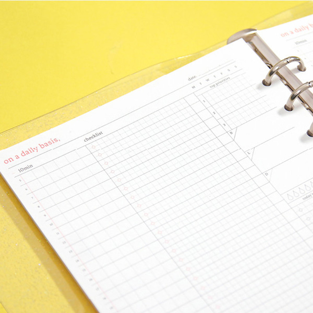 Usage example - Second Mansion Daily plan 6-ring A5 planner notebook refill