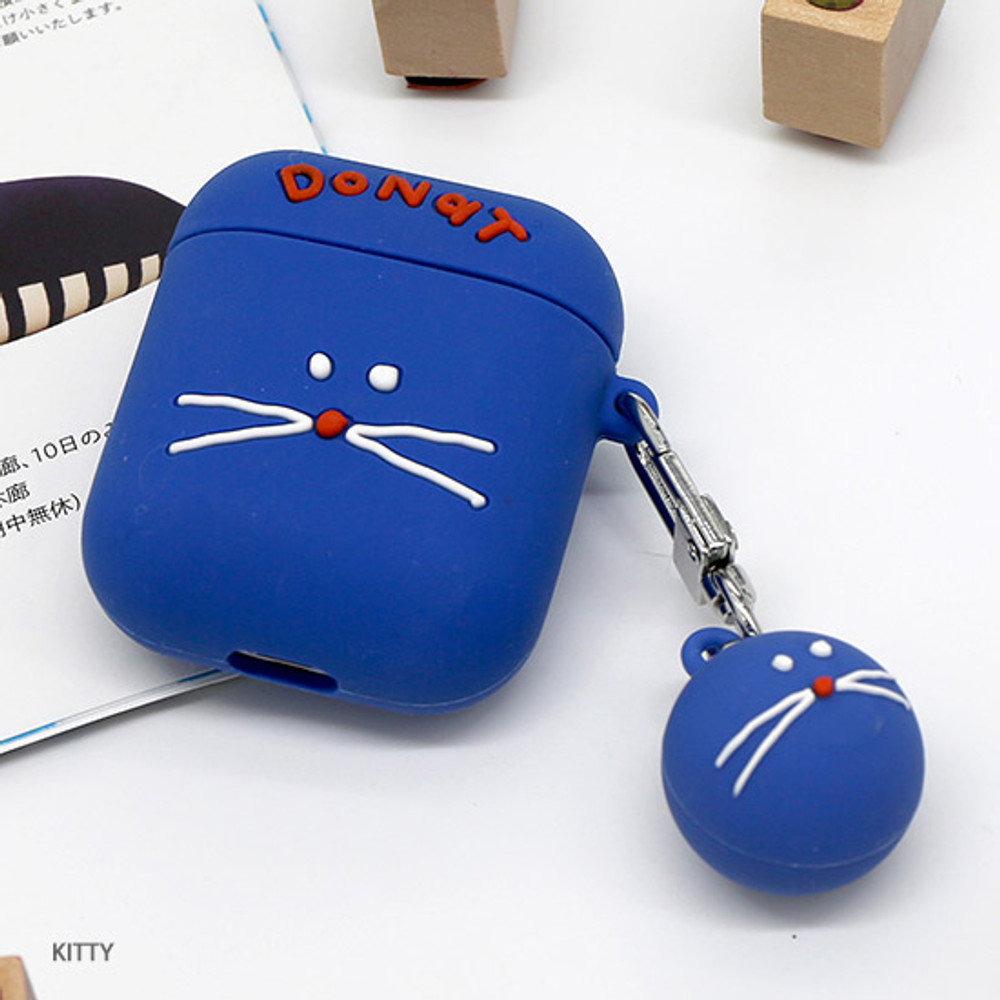 Kitty - ROMANE Donat Donat AirPods case silicone cover with Keyring