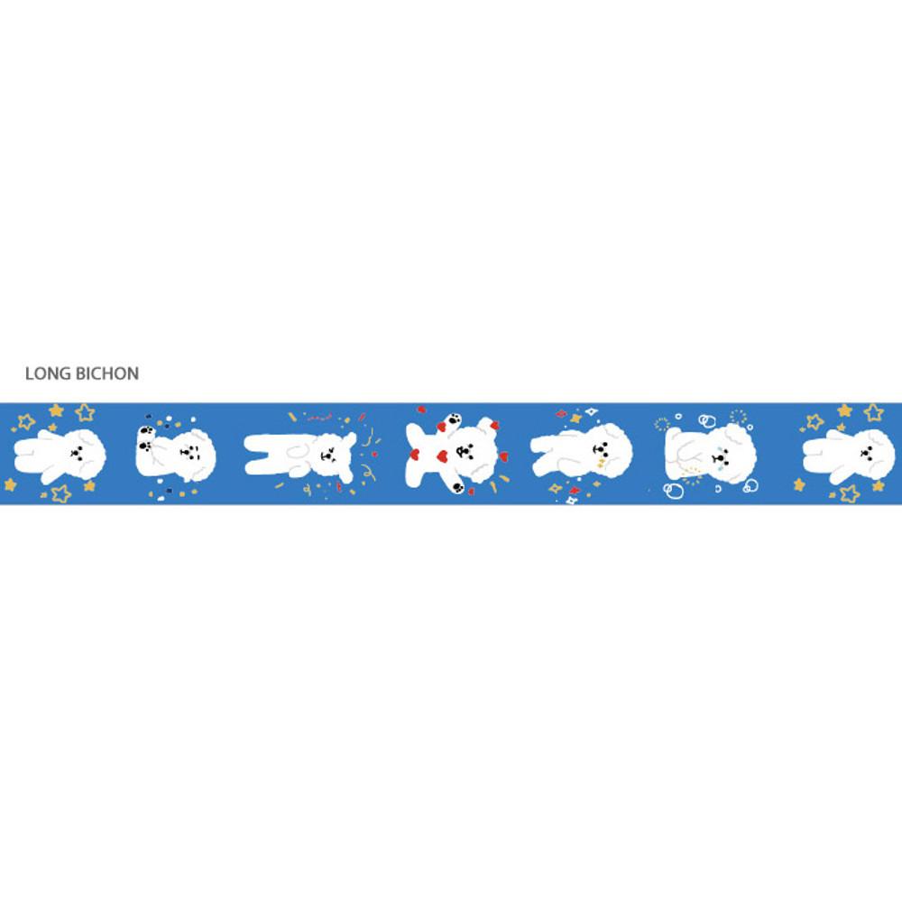 Long bichon - Gunmangzeung Pom Pom 15mmX10m single masking deco tape