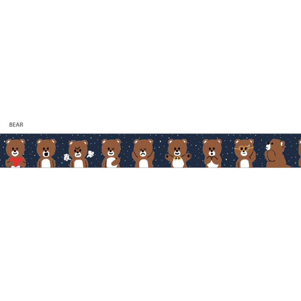 Bear - Gunmangzeung Pom Pom 15mmX10m single masking deco tape