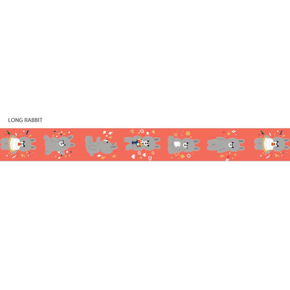 Long Rabbit - Gunmangzeung Pom Pom 15mmX10m single masking deco tape
