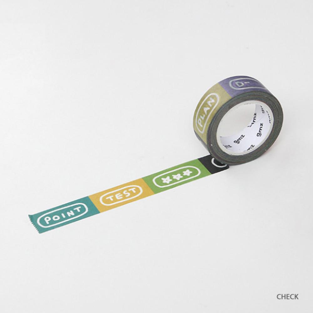 Check - Gunmangzeung Wordle 15mmX10m single masking deco tape