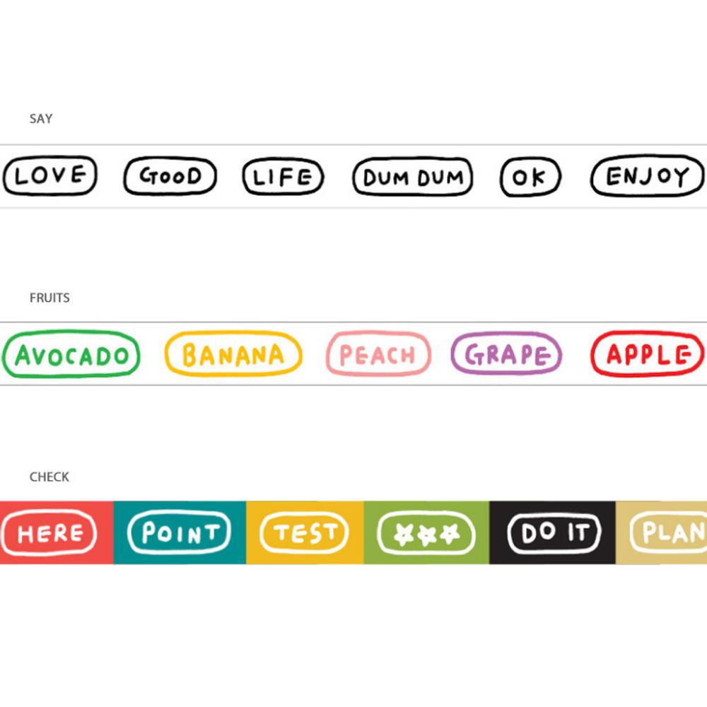 Option - Gunmangzeung Wordle 15mmX10m single masking deco tape